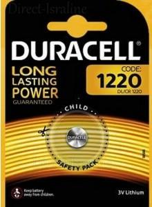 סוללה Duracell CR1220 טרייה בתוקף עד 2027 *במלאי מיידי*