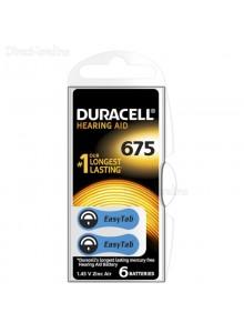 6 סוללות למכשירי שמיעה דורסל DURACELL ACTIVAIR 675 *במלאי מיידי*