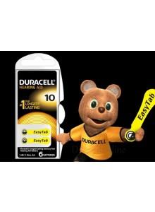 6 סוללות למכשירי שמיעה דורסל DURACELL ACTIVAIR 10 *במלאי מיידי*