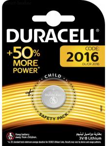 סוללה Duracell CR2016  טרייה בתוקף עד 2027  *במלאי מיידי*