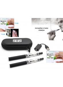 סיגריה אלקטרונית כפולה תואמת EGO-T 1100mah מופעלת קרטומייזר במבצע לזמן קצר D1472 *במלאי מיידי*