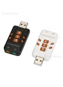 USB כרטיס קול חיצוני עם מיקרופון ואודיו 3D 8.1 *במלאי מיידי*