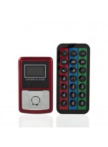 משדר FM לרכב ל-MP3 בעיצוב סמארטפון בצבע אדום*במלאי מיידי*