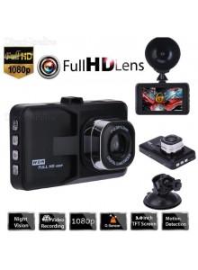 מצלמה לרכב עם מסך 3 אינץ ראיית לילה זיהוי תנועה G-Sensor Full HD 1080P *במלאי מיידי*