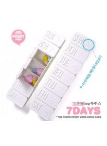 קופסא לתרופות עם 7 תאים לכבדי ראייה