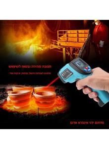 מד חום עד 550°C דיגיטלי אלחוטי עם קרן לייזר GM-550 *במלאי מיידי*