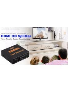 מפצל HDMI UHD 3D 4K*2K Full HD 1080P אקטיבי מוגבר ל-2 מסכים בו זמנית