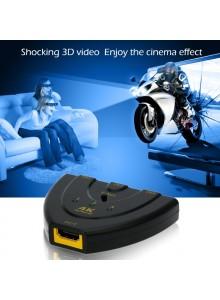 בורר מפצל HDMI 4K 3D 3 כניסות תומך HDCP לממירים *במלאי מיידי*