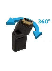 מתאם HDMI 1080P זכר נקבה זוויתי מסתובב 360