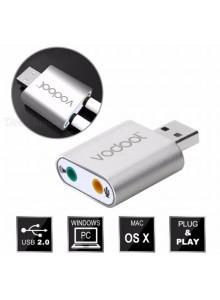 כרטיס קול חיצוני USB עם כניסות מיקרופון ואודיו סראונד 7.1 וירטואלי *במלאי מיידי* 3D H077