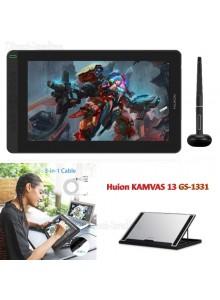 לוח כתיבה אלקטרוני HUION KAMVAS 13 GS-1331 2020 version *במלאי מיידי*