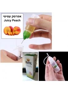 """נוזל מילוי לסיגריה אלקטרונית בטעם אפרסק עסיסי 10 מ""""ל"""