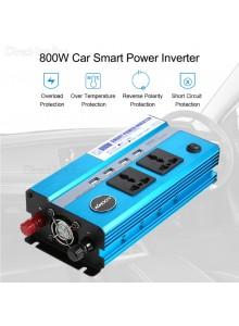 ממיר מתח בהספק 800W מתח עבודה קבוע עם 4 USB ו-2 שקעים לרכב בחיבור למצבר או המצת