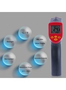 מד חום עד 530°C דיגיטלי אלחוטי עם קרן לייזר DT-530 *במלאי מיידי*