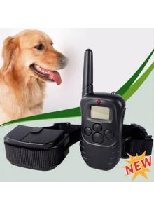 קולר אילוף נגד נביחות עם שלט אלחוטי דיגיטלי לכלב