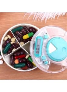 קופסא דיגיטלית לתרופות עם 3 תאים ותזכורת לזמני לקיחת כדורים D1508  *במלאי מיידי*