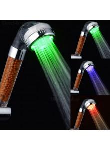 ראש מקלחת התזה לאמבטיה עם חיישן טמפרטורה ב-3 צבעי LED *במלאי מיידי*