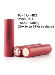 סוללה מקורית נטענת LG 3.7v 2500mAh 18650 Li-ion HE2 20A  *במלאי מיידי*