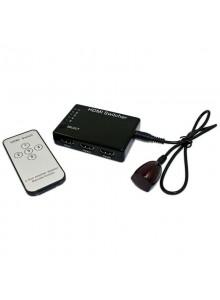 חמש כניסות עם שלט ואוטומט HDMI בורר/מפצל