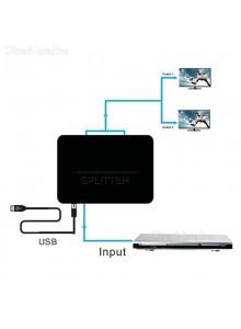 מפצל HDMI Full HD Full 3D אקטיבי מוגבר ל-2 מסכים בו זמנית