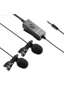 Movo LV20 מיקרופון דש כפול לסמארטפונים ומצלמות *במלאי מיידי*