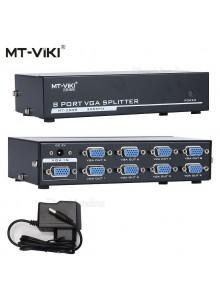מפצל VGA מקצועי אקטיבי מוגבר ל 8 מסכים 350MHZ *במלאי מיידי*