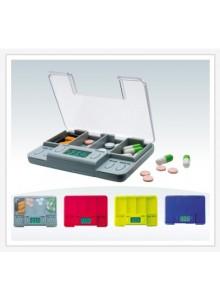קופסא דיגיטלית לתרופות עם 4 תאים ו-4 תזכורות לזמני לקיחת כדורים