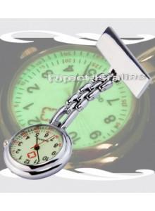 שעון אחיות מתכתי לוח זוהר