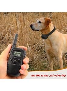 קולר אילוף נגד נביחות עם שלט אלחוטי דיגיטלי לכלב D5455 *במלאי מיידי*