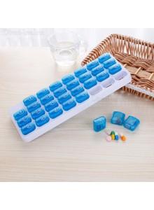 קופסה לתרופות עם 31 תאים ללקיחת כדורים יומית לחודש D4075  *במלאי מיידי*