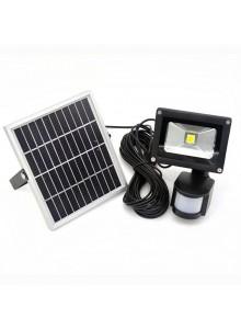 תאורה סולארית עם זרקור 10 וואט נטען סולארית וחיישן תנועה D5500 *במלאי מיידי*