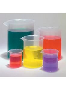 סט 5 כוסות מידה מפלסטיק למעבדה *במלאי מיידי*