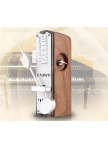 מטרונום מכני מיני נייד דמוי עץ טיק D2624