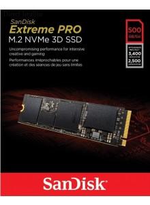 כונן SSD פנימי SanDisk Extreme Pro M.2 NVMe 3D SSD SDSSDXPM2-500G-G25