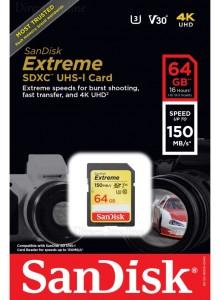 SanDisk Extreme SDXC 64GB SDSDXV6-064G