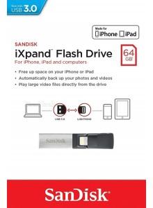 SanDisk iXpand 64GB SDIX30N-064G-PN6NN *במלאי מיידי*