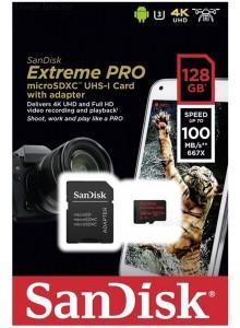 SanDisk Micro SDHC 128GB Extreme Pro SDSQXCG-128G