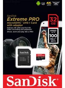 SanDisk Micro SDHC 32GB Extreme Pro SDSQXCG-032G