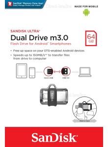 SanDisk Ultra Dual Drive 64GB m3.0 SDDD3-064G