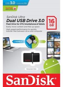 SanDisk Ultra Dual USB 3.0 16GB SDDD2-016GB *במלאי מיידי*