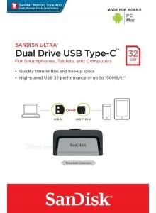 SanDisk Ultra Dual Drive Type-C 32GB SDDDC2-032G *במלאי מיידי*