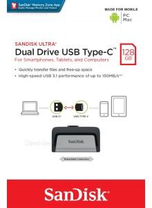 SanDisk Ultra Dual Drive Type-C 128GB SDDDC2-128G *במלאי מיידי*