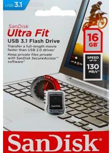 SanDisk Ultra Fit USB 3.1 16GB SDCZ430-016G *במלאי מיידי*