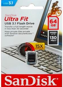 SanDisk Ultra Fit USB 3.1 64GB SDCZ430-64G *במלאי מיידי*
