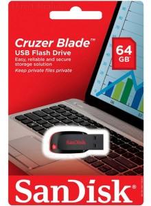 SanDisk Cruzer Blade 64GB SDCZ50-064G *במלאי מיידי*