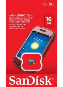 SanDisk Micro SDHC 16GB SDSDQM-016G *במלאי מיידי*