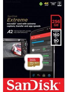 SanDisk Micro SDXC 256GB Extreme A2 SDSQXA1-256G