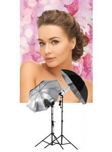 רפלקטור מטריה בצבע שחור וכסוף מגורען לסטודיו 83 בקוטר סנטימטר Reflector *במלאי מיידי*