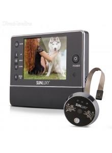 עינית דיגיטלית לדלת 3.5 אינץ עם זום ראיית לילה פעמון וצילום וידאו SUNLUXY ZS69 *במלאי מיידי*