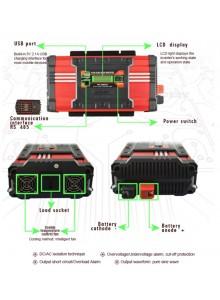 ממיר מתח סינוס טהור עם תצוגה דיגיטלית בהספק SUOER FPC-D1500A PURE SINE 2500W לרכב ולבית להפעלת מזגן קטן, מקרר מיני, כלי עבודה ומכשור,